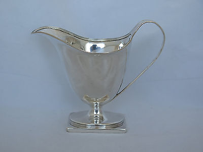 1792 London Sterling Henry Chawner Large Cream Pitcher
