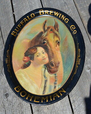 Buffalo Brewing Co Bohemian Beer Tray 16 3/4 by 13 7/8 inches AS IS