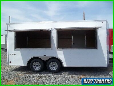 2017 Look 8 x 16 enclosed concession 2 window vending trailer white 8x16