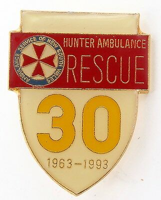 Scarce / Obsolete Nsw Hunter Ambulance 30 Year 1963 - 1993 Commemorative Badge.