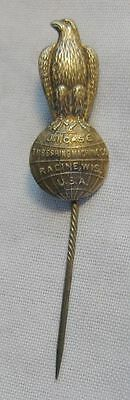 Antique Case Farm Machinery Advertising Lapel Or Stick Pin With Eagle