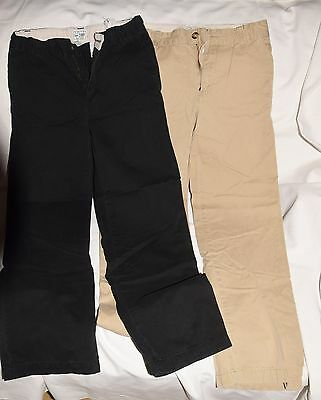 Lot of 2 Children's Place Boys Casual Cargo Pants Size 12 Blue & Tan