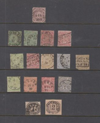 oldhal-Germany-North German Confederation-Lot of Stamps