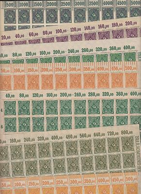 oldhal-Germany- Lot of 7 Sheets from the Inflation Era-1920s