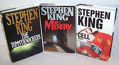 3 Stephen King Novels - Misery, The Tommyknockers, Cell