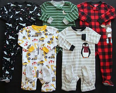 Boy Carter's 24 Months 2T Footed Sleeper Pajama Clothes Lot Free Shipping