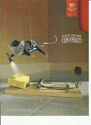 """Smirnoff Vodka """"Discover your inner"""" """"mouse""""- 2003 print magazine ad"""
