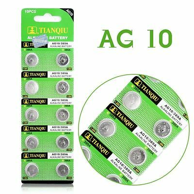 10 Pk AG10 LR1130 389 390 189 L1131 LR54 D389 Alkaline Button Cell Battery 2020