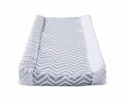 Circo ~ Gray and White Chevron Wipeable Changing Pad Cover