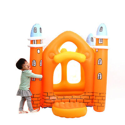 Inflatable Crayon Bouncer House Jump Bouncer Playhouse Bouncy Castle for Kids