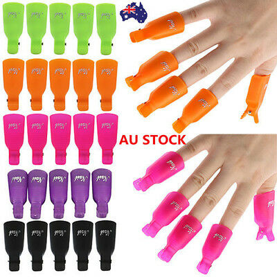10PCS Toenail Soak Off Clip Caps Nail Art Tips Polish UV Gel Clamp Remover Wrap
