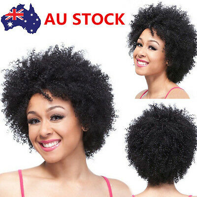 Women Short Synthetic Wavy Curly Front None Lace Afro-Hair Synthetic Wig+Wig Cap