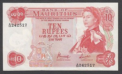 10 Rupees From Mauritius Unc