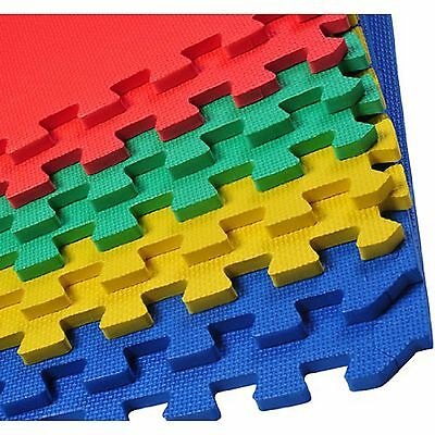 Soft Foam Interlocking Mats Gym Garage Yoga Pool 60X60 Multicolour Leaf Or Cross