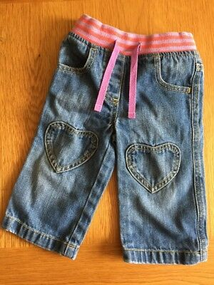 Baby Boden Heart Patch Jeans Age 12-18 Months