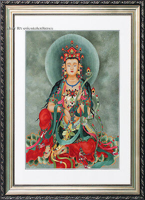 Chinese Totally 100% Hand Embroidered Su Embroidery Art:thangkas buddha