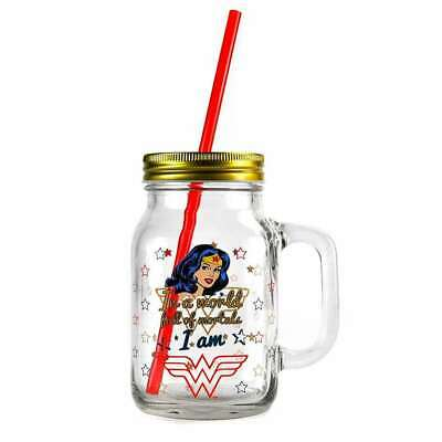 Official Dc Comics Wonder Woman Mason Moonshine Glass Jar New In Gift Box