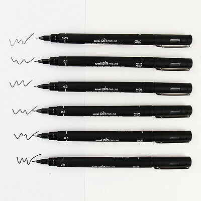 Waterproof Comic Anime Durable Fineliner Drawing Pen Art Marker U