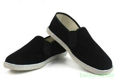 Mens Kung fu Martial Tai Chi Driving  Silp On Flat Cloth Shoes Loafer New Lesiur