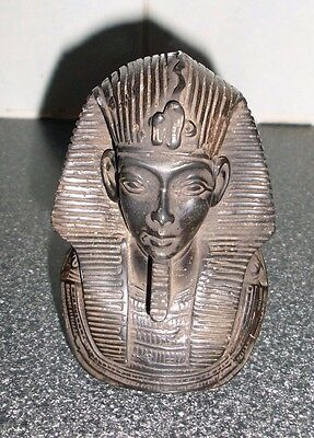 Antiques Collectible Hand Carved African Stone Tutankhamun Pharaoh Figurine Bust