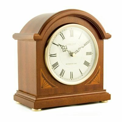 London Clock Co Westminster Chime Wooden Mantle Clock