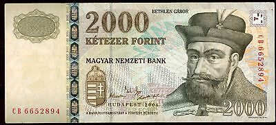 Hungary 2000 Forint 2004 Note !!!!!! Xf