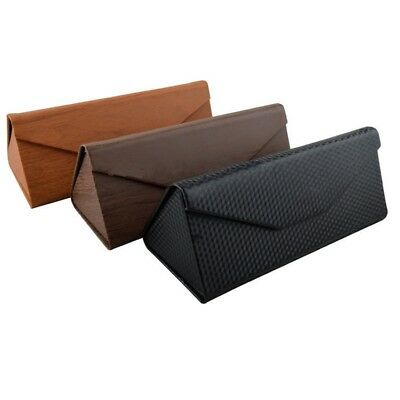 TRIXES Black Folding Triangular Prism Glasses Case for Small and Medium Frames