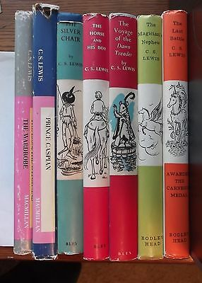 The Chronicles of Narnia by C. S. Lewis/7 early hard cover editions/Narnia set