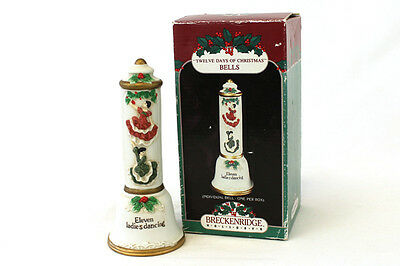 1992 Breckenridge Holidays Twelve Days Of Christmas Bisque Porcelain Bell Day 11