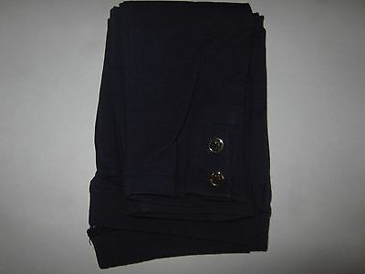 Gymboree Nwt Girls 12 Ciao Puppy Solid Navy Blue Gold Button Knit Leggings New