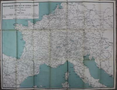 Diagrammatic Road Map of Central Europe, Wood McMurtry, Brentano's, [1910]