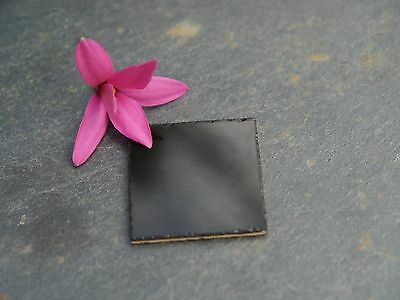 25 Luxury Black Ceramic Dolls House Floor Tiles