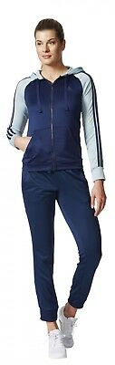 adidas Damen Fitness Freizeit Trainingsanzug Re-Focus Tracksuit blau grün
