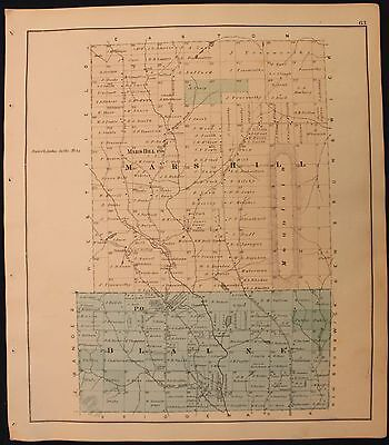 m Original 1877 Roe & Colby Aroostook County Mars Hill and Blaine Map
