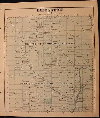 m Original 1877 Roe & Colby Aroostook County Littleton Map