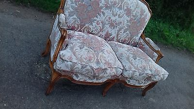 Vintage French Mid 20Thc 2 Seater Sofa/chaise Longue