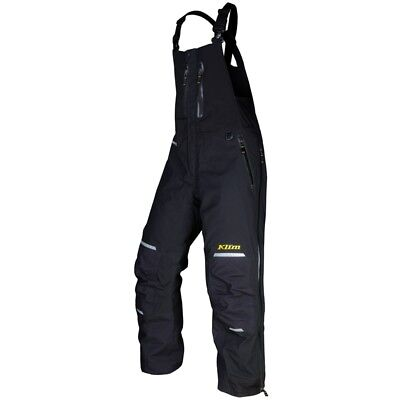 Klim Men's Insulated Gore-Tex Keweenaw Snowmobile Bibs Black - 3096-001-__0-000
