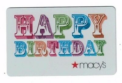 Macy's Happy Birthday Gift Card Valued at $400.00 NO RESERVE Free Shipping