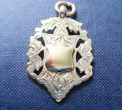 Antique double sided   Solid silver watch Fob/pendant   H/marked 1907