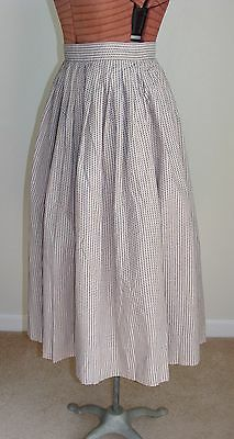 Vintage 1950's Woven Cotton Fabric Full Skirt Pinup Rockabilly