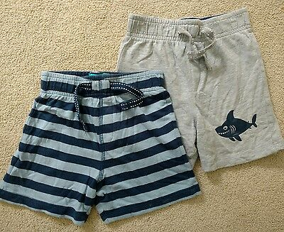 TU Boys Cotton Summer Shorts. Blue & Grey. 2-3 years
