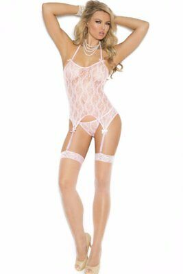 3-Piece Cami Set Camisette Panty G-String Stocking Lace Thigh-High Sexy Women