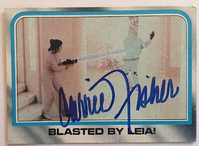 Carrie Fisher Autograph Signed Trading Card Star Wars Empire Strikes Back