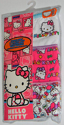 New Hello Kitty Pink Bows Planes White Toddler Girls Panties Underwear Sz 2T 3T