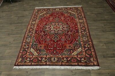 Charming Semi Antique Hand Knotted Tabriz Persian Area Rug Oriental Carpet 7X10