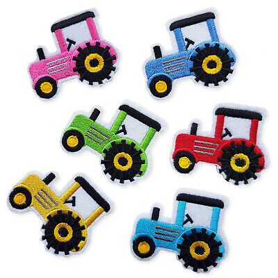 Children's Kid Tractor Truck Iron Sew on Appliques Patches Embroidered Scrapbook