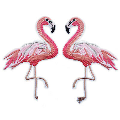 Large Flamingo Iron/Sew on Appliques Embroidered Patches Craft Motifs Sccrapbook