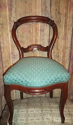 Antique Mahogany Beautifully Carved Balloon Back Parlor Chair
