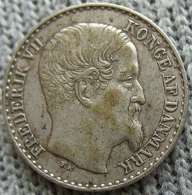 Danish West Indies 1859 Silver 3 Cents