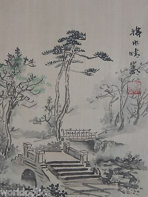 vintage Chinese painting signed and sealed original Watercolor